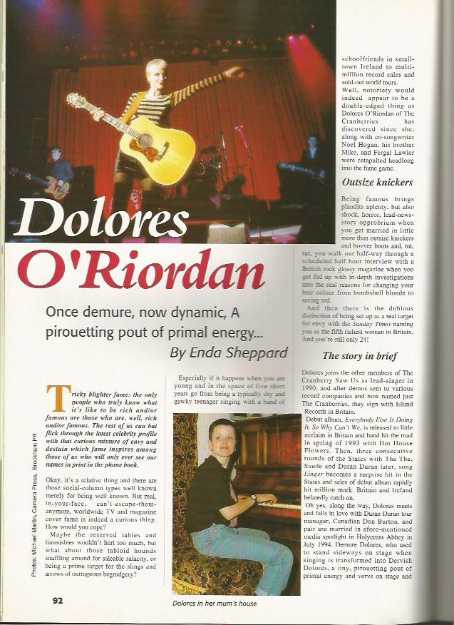 Dolores O'Riordan 1