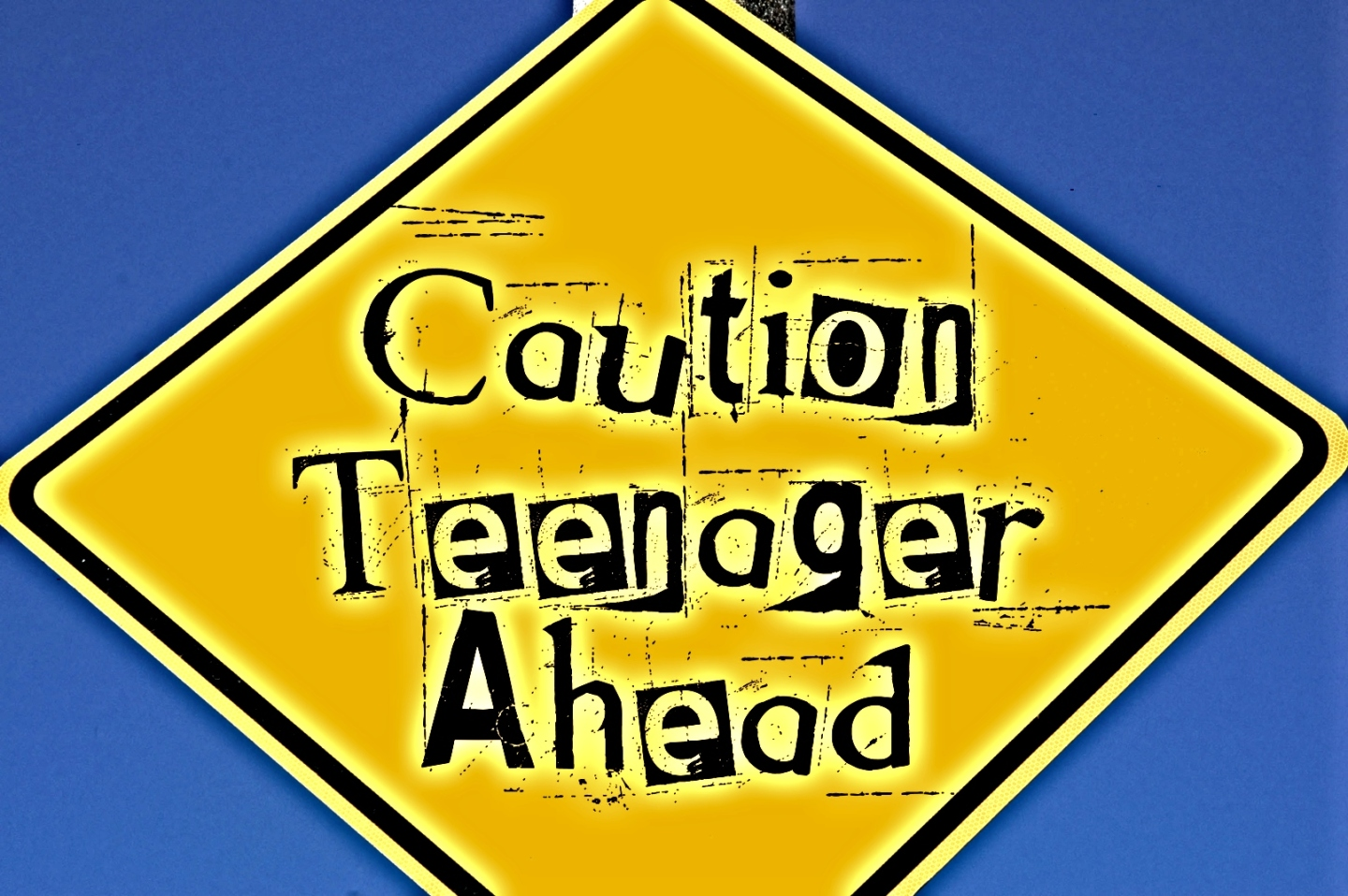 Caution Teenager Ahead signpost