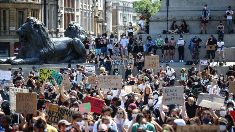 G Floyd protest Trafalgar